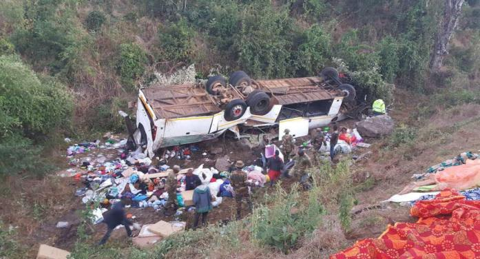 BREAKING: Atleast 14 Dead In Luangwa Bus Accident