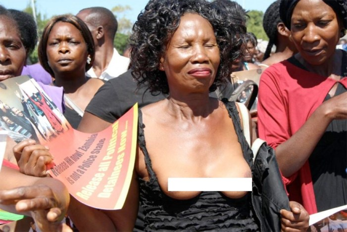 UPND Women Strip Naked To Protest AFRICAN FREEDOM DAY!