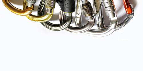 Mosquetones ¿de acero o de aluminio?
