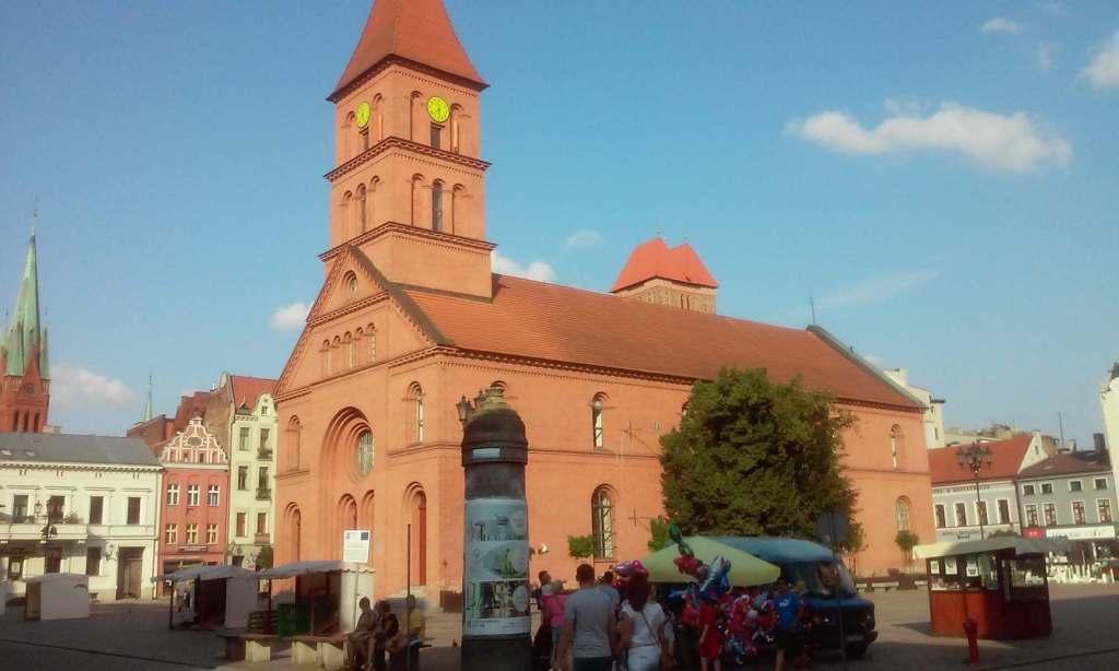 Nowy rynek Camer Image building old Kościół New square market Toruń