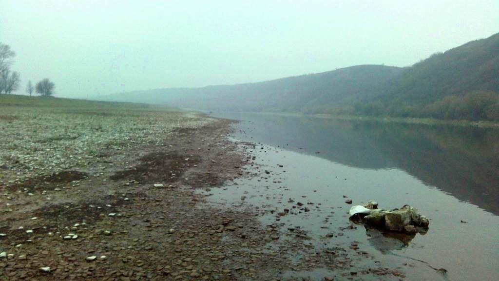 Dniestr odbicie wysychająca rzeka