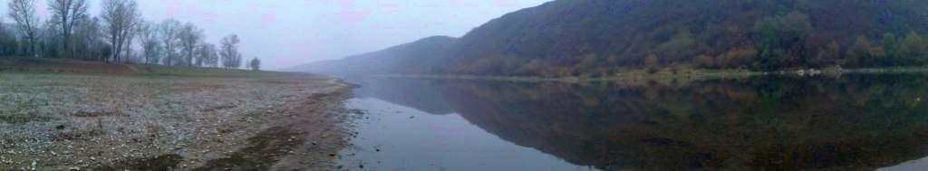 Dniestr panorama river