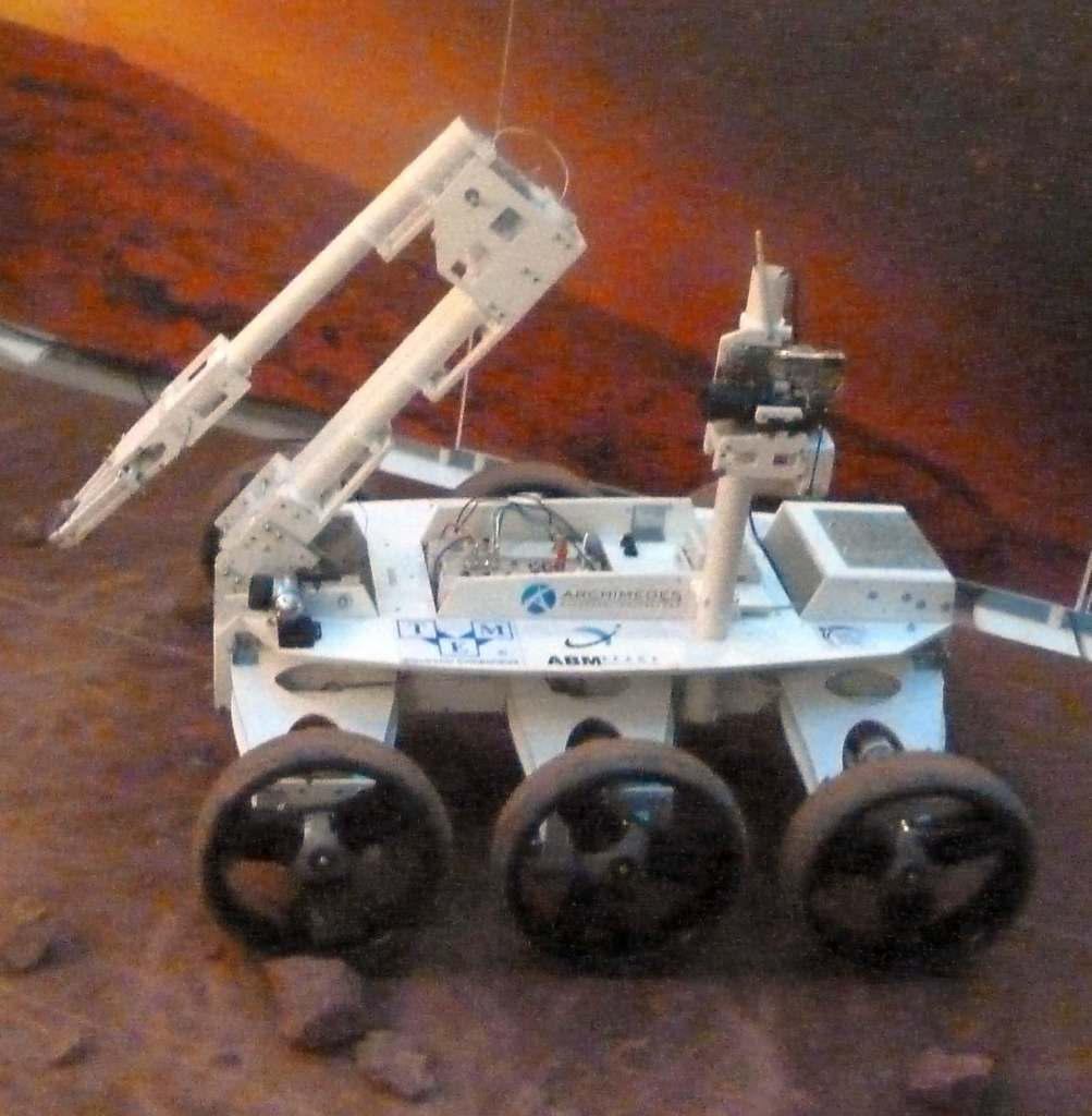 Łazik marsjański Magma White Mars rover planetary rover space exploration vehicle Lunar rover planet cosmic