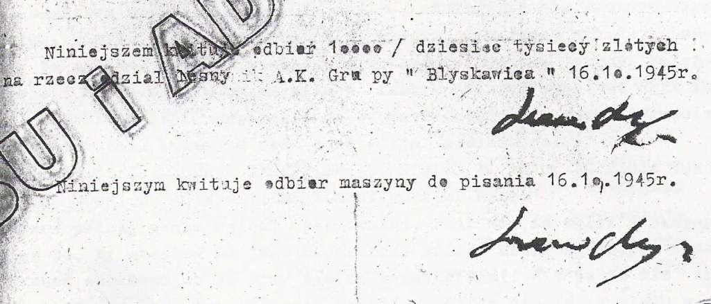 historia Inowrocławia History illegal powiat district okupacja sowiecka oddziały zbrojne organizacje niepodległościowe PRL radziecka Soviet underground forces USRR ZSRR