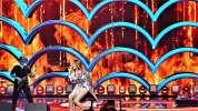 Blue cafe piękny występ gwiazdy plotki show gala elle concert   olympia celine dion fire ogień feu shakira pologne extra