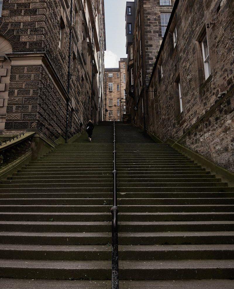 エディンバラ旧市街の階段