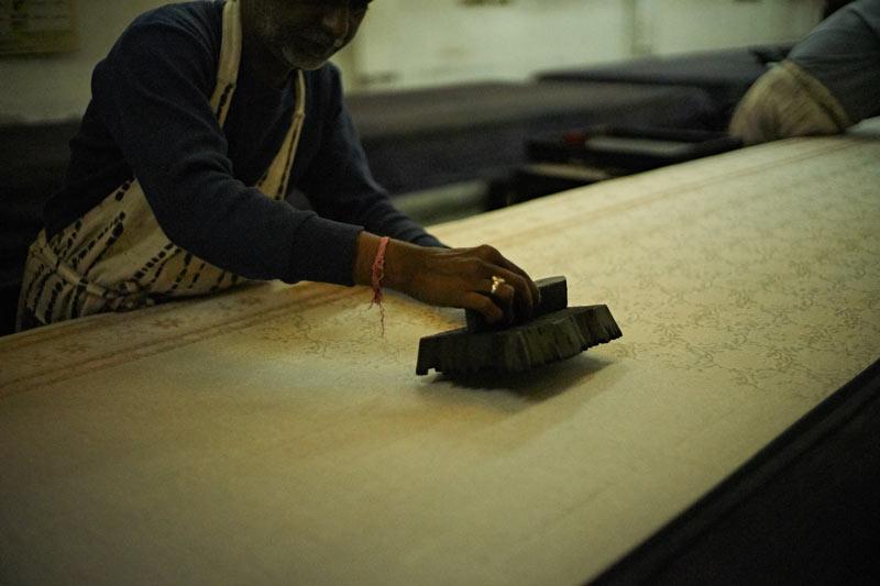 ジャイプール・サンガネールの更紗工房