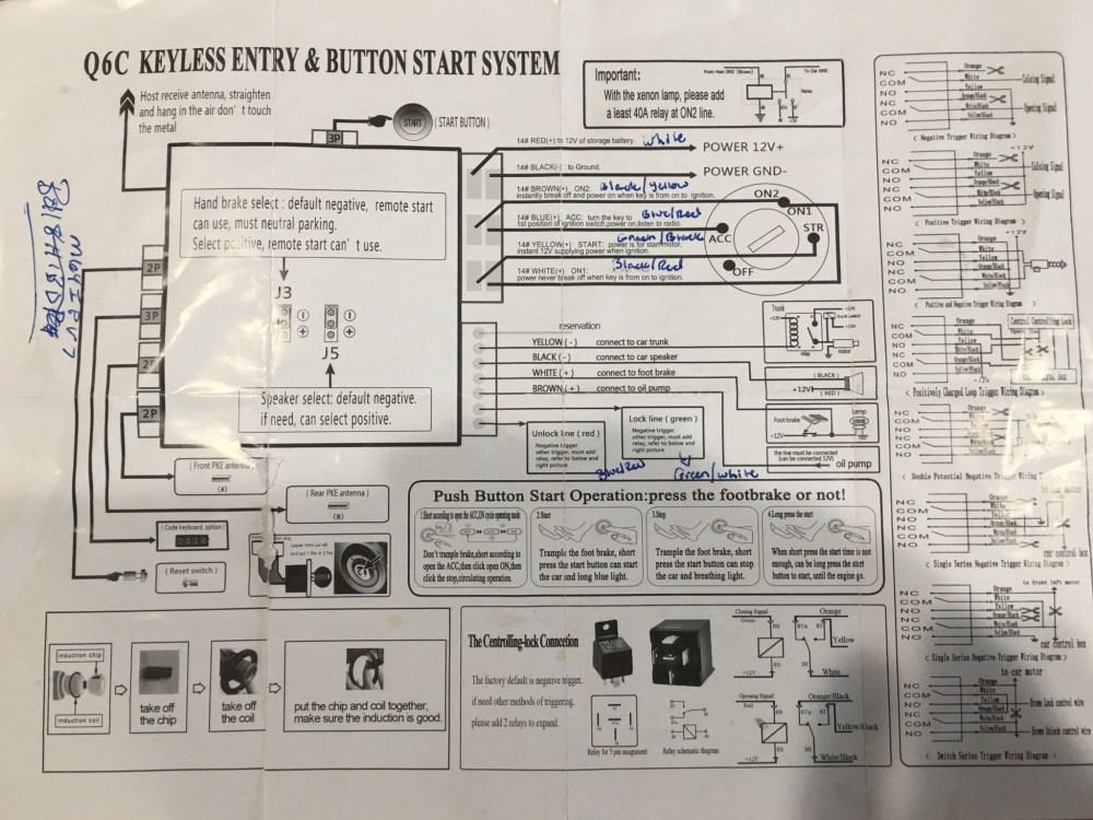 medium resolution of aftermarket keyles entry wiring diagram