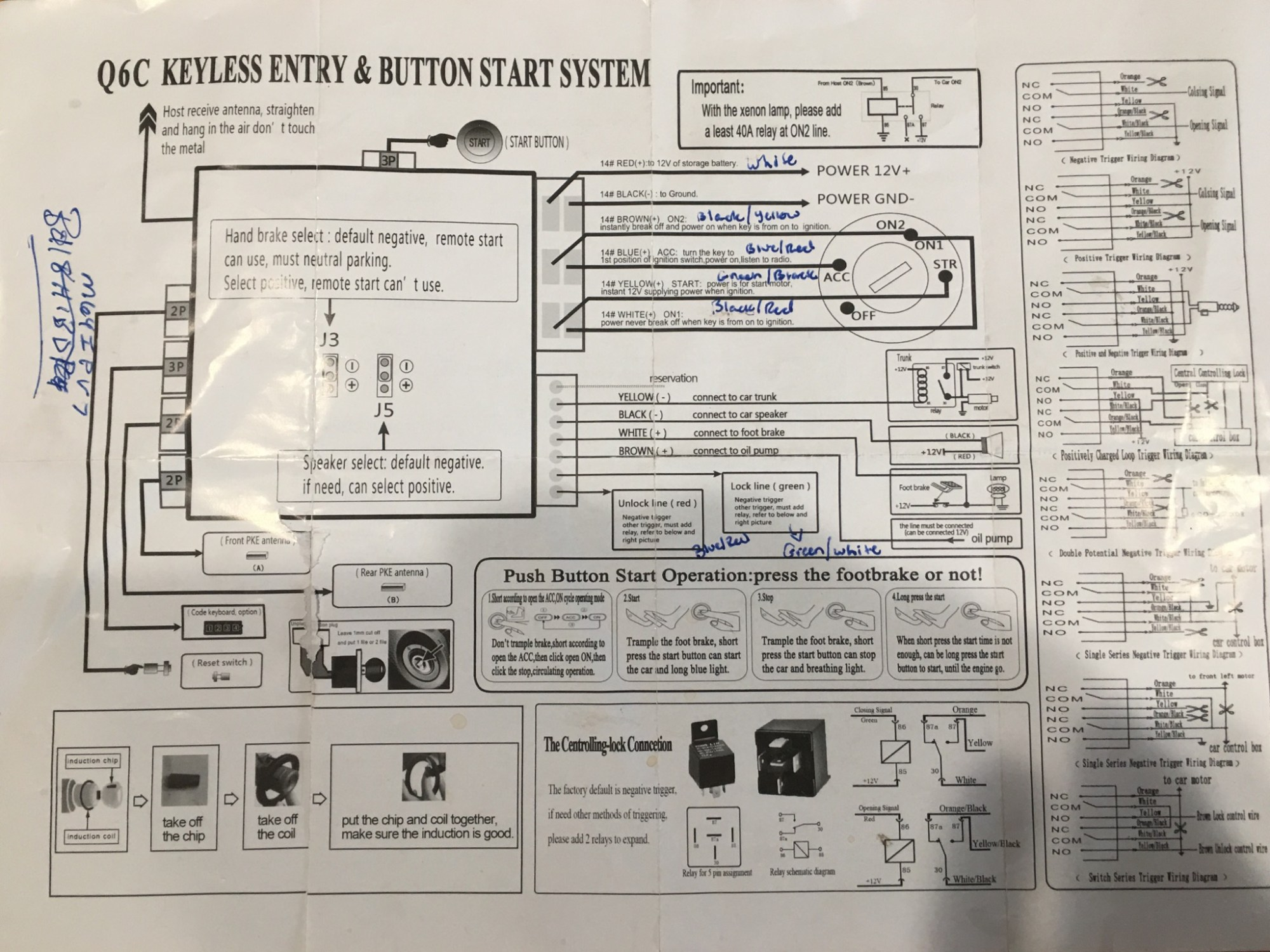 hight resolution of aftermarket keyles entry wiring diagram