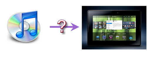 play iTunes music with BlackBerry PlayBook