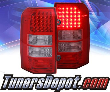 ks led tail lights red clear 07 11 jeep patriot