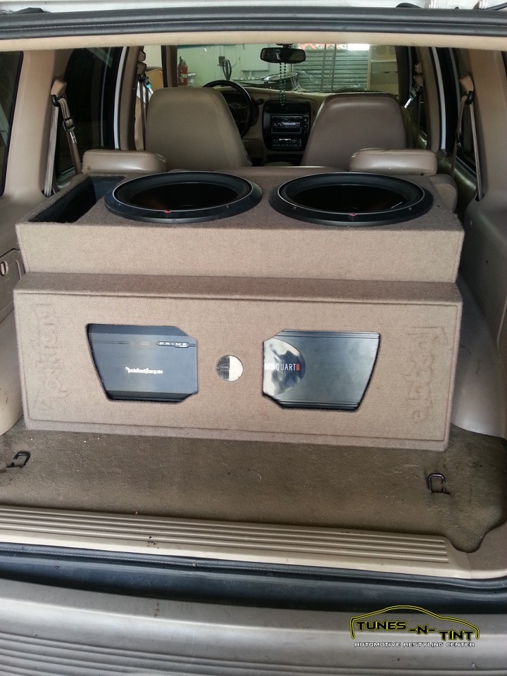 2002 Ford Explorer  Custom Sub Enclosure  TunesNTint