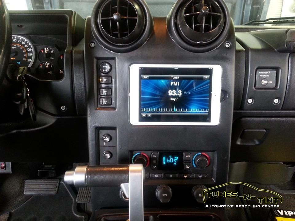 2006 Hummer H2  Custom IPAD Dash  TunesNTint
