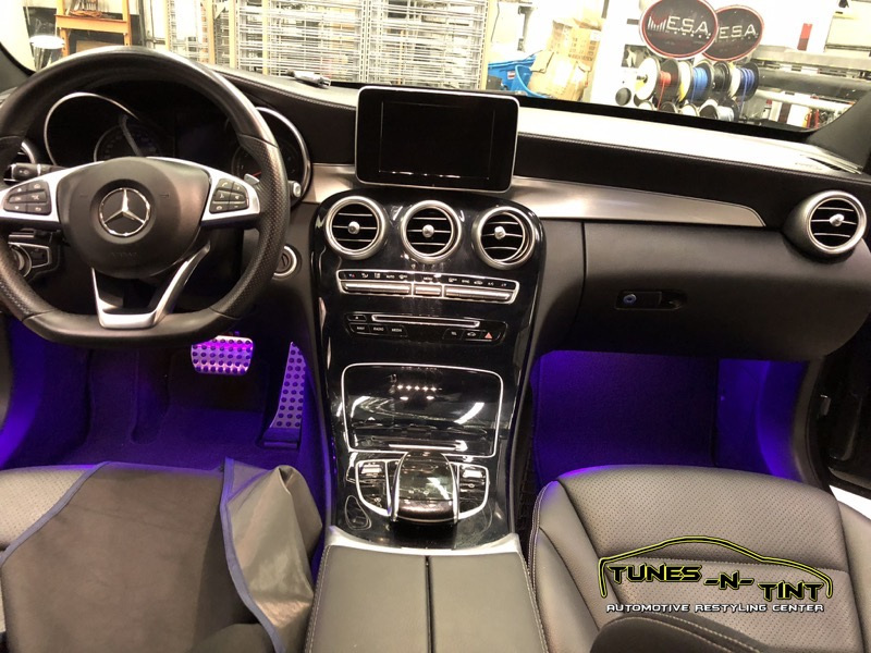Mercedes C300 Interior Lighting 2 Tunes N Tint