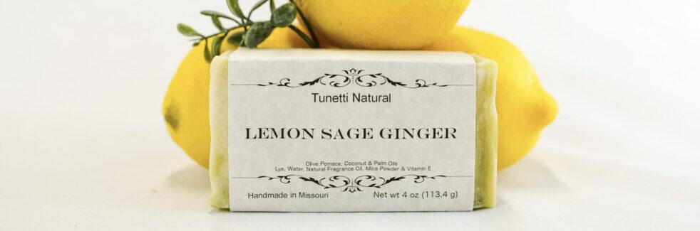 Lemon Sage Ginger Soap