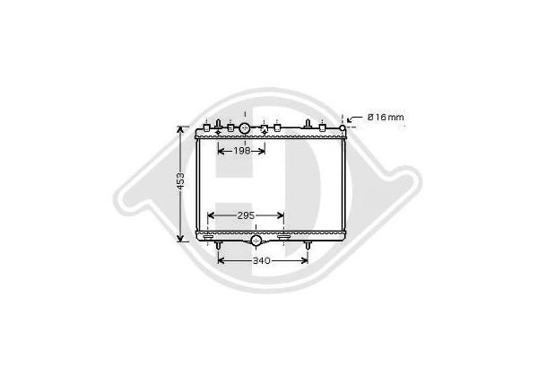 Refrigerador Peugeot 207/407+c5, 04- 380x545, 1,8i-16v