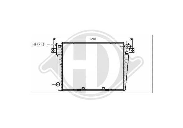 Radiador Bmw E30, 82-87, 550x450, 320i-325i Con/sin