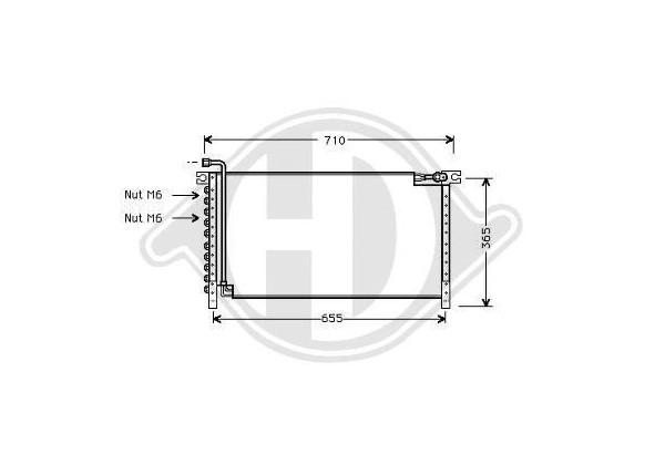 Condensador Terrano R20, 93-96, Tipo R20,2.4,2,7, Manual