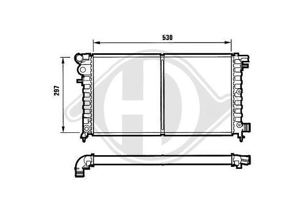 Radiador Citroen Saxo, 96-03, 530x300, 1.5 Diesel,manual.