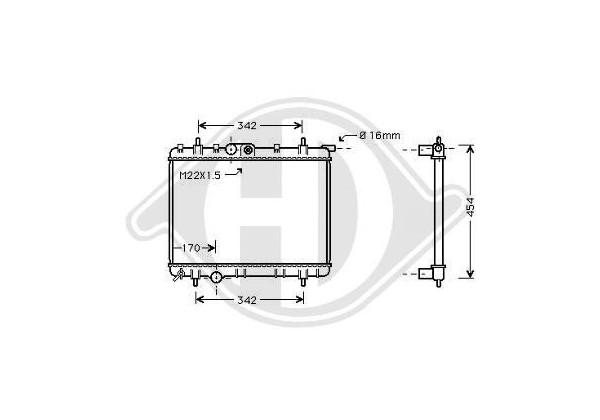 Radiador Peugeot 206, 02- 380x562x27, 2.0 Hdi Manual +ac