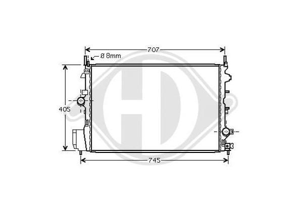 Radiador Signum,vectra C, 04- 650x415, 1.9 Cdti, Manual, +/-ac