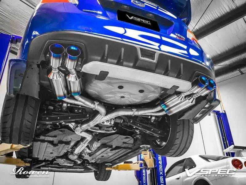 titanium sport exhaust system by rowen