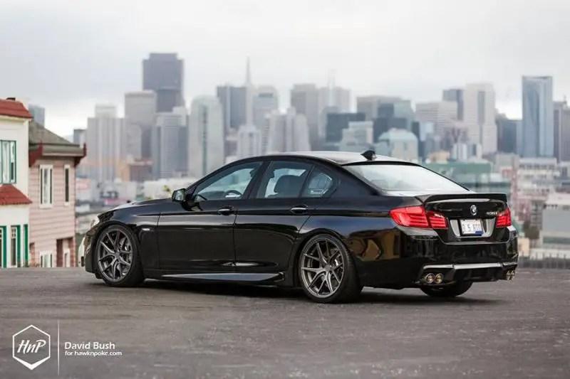 BMW 535i F10 in Schwarz mit AG Wheels Alufelgen   tuningblog.eu - Magazin