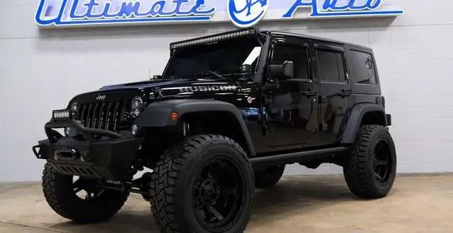 Zu Verkaufen Pechschwarz Jeep Wrangler Rubicon Hard Rock