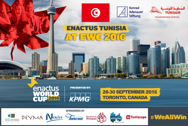 La Tunisie A Toronto Pour La Enactus World Cup 2016