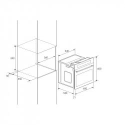 four encastrable focus f525x 60cm inox