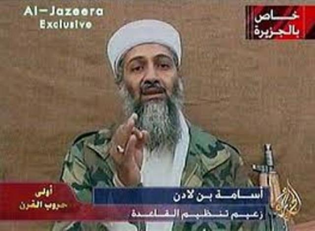 Oussama Ben Laden intervenant sur Al-Jazeera, sa porte-parole officieuse. Et si les relations entre Al-Qaïda et Al-Qatar étaient structurelles et stratégiques ?
