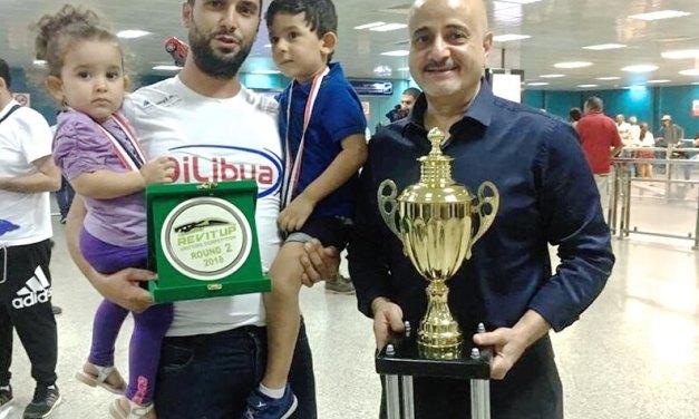Nassim Saad sur le podium du REV IT UP Drifting Competition Middle East2018