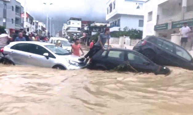 Vidéo choquante de voitures emportées par les eaux à Korbous