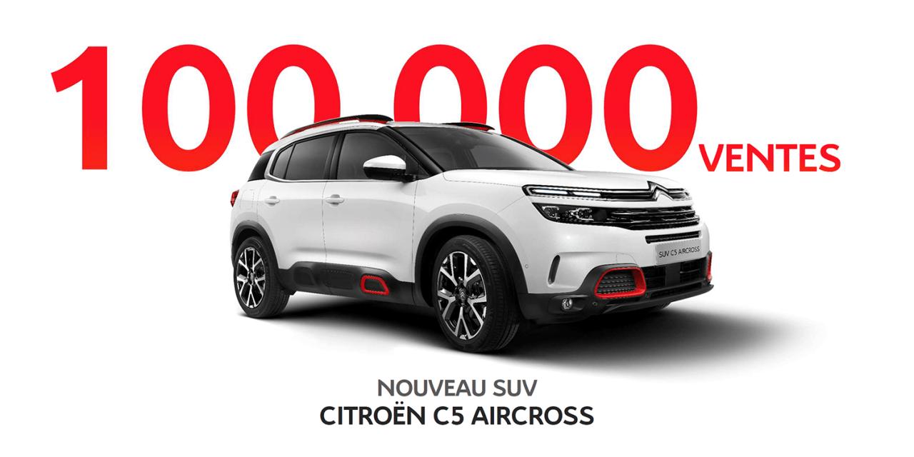 100.000 VENTES DE NOUVEAU SUV C5 AIRCROSSDANS LE MONDE. PROFITEZ DE NOTRE OFFRE DE FIN D'ANNÉE!