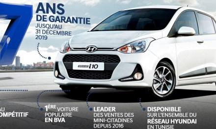 Promo fin d'année : Moins 2000 DT pour la voiture populaire Hyundai Grand i10 BVA