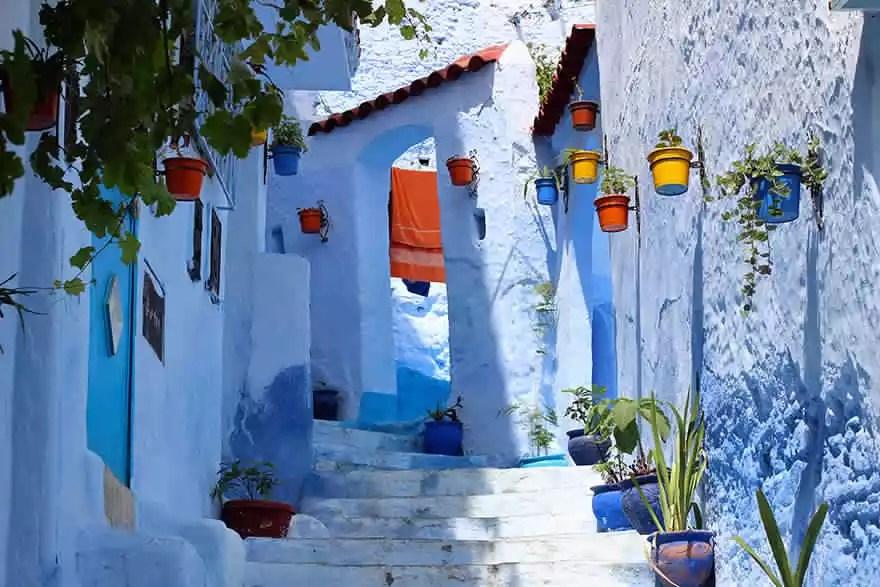 les rues arabes du Maroc