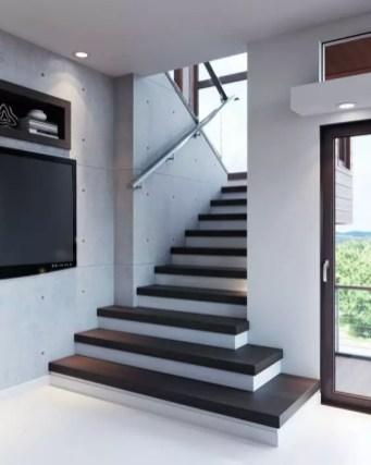 escalier massif moderne