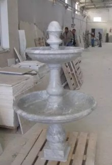fontaine blanc de carrara