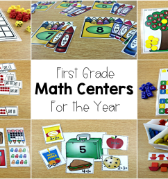 Math Centers For First Grade - Tunstall's Teaching Tidbits [ 1125 x 2000 Pixel ]