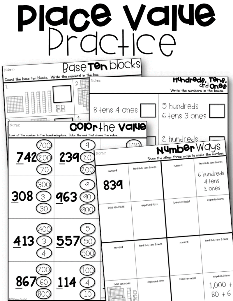hight resolution of Place Value Lessons and Workstations - Tunstall's Teaching Tidbits