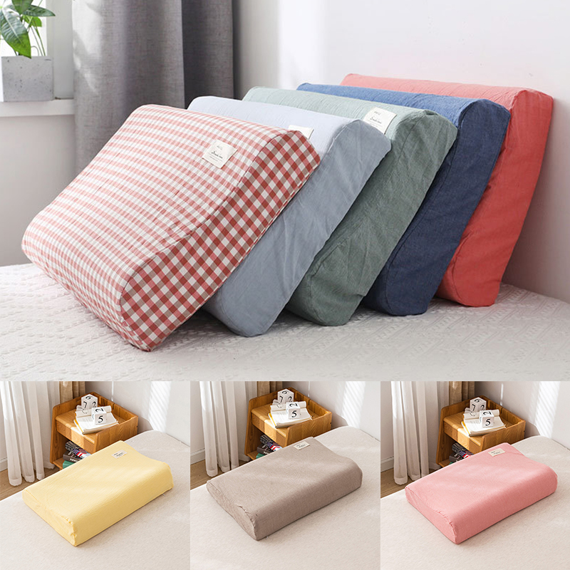 cotton pillowcase memory foam contour