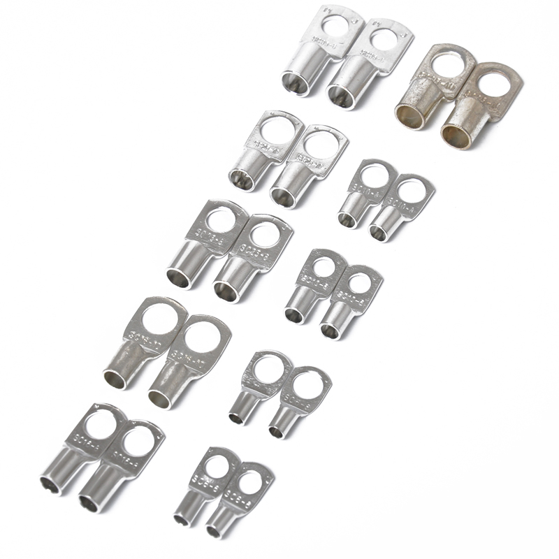 Assorted Heavy Duty Wire Lugs Battery Cable Silver Copper