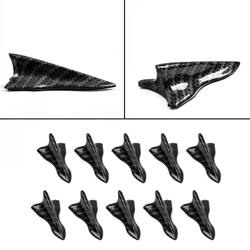 10x Shark Fin Carbon fiber Diffuser Vortex Generator for