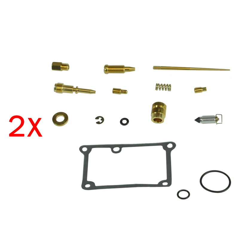 Pair Carburetor Carb Rebuild Kit Repair Fit For Yamaha