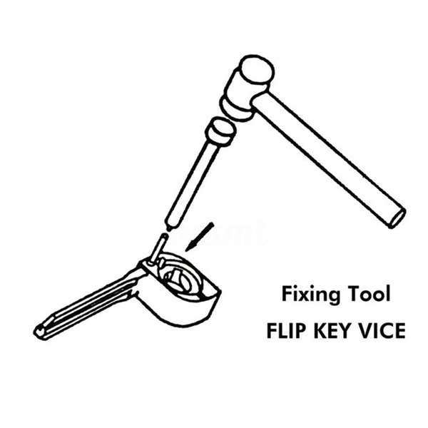 Car Flip Key Vice Fixing Tool Pin Remove Tool Kit For Car