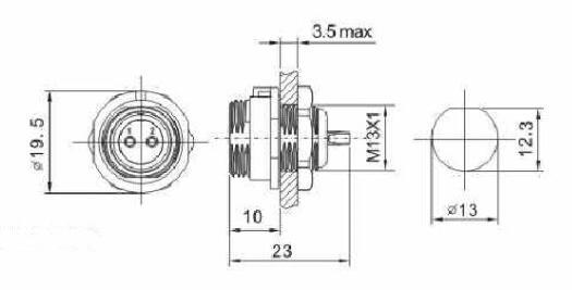 1Set Waterproof SP13 3Pin IP68Circular Cable Aviation