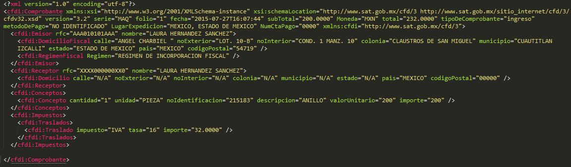 Generación de un CDFI mediante cfdv32.cs en C# XML 3.2