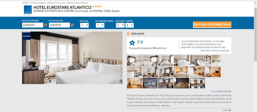 Habitaciones Eurostars Atlántico