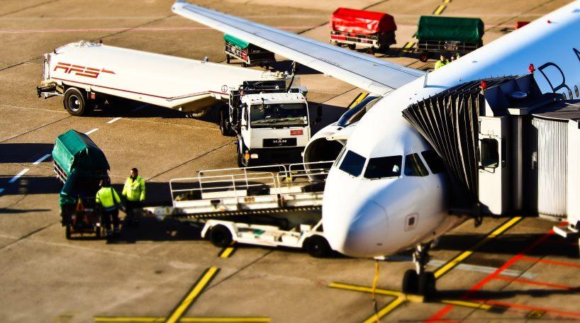 Trabajadores de seguridad del aeropuerto