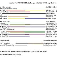Car Radio Wiring Diagram Needs Heil 5000 Double Din Navigation Upgrade For '91 Daytona - Turbo Dodge Forums : Forum ...